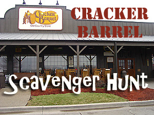 Free Cracker Barrel scavenger hunt with rhyming clues