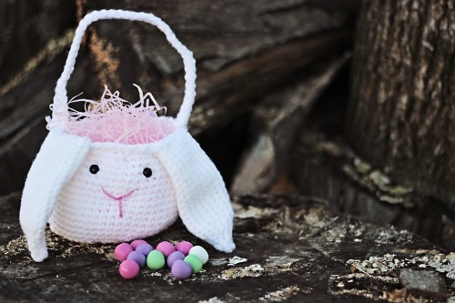 Crochet Easter Bunny Basket Sweet T Makes Three