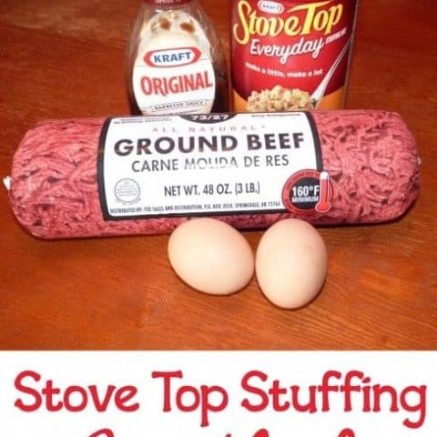 This quick and easy meatloaf made with Stove Top stuffing is one of my go-to dinner ideas for busy nights