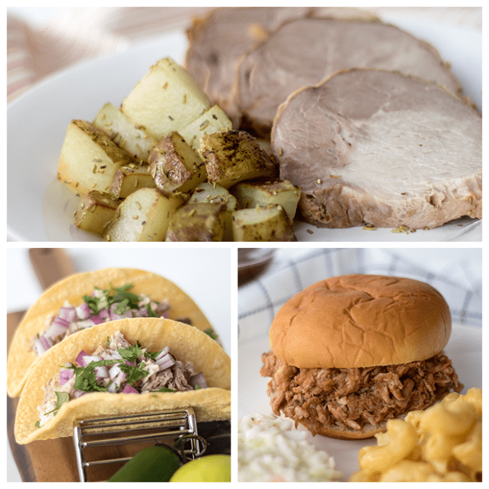 crock pot pork roast three different meals