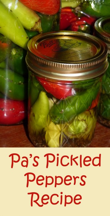 My grandfather's technique for pickled peppers. So easy!