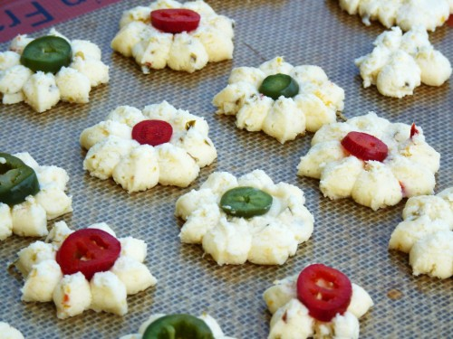 These Spicy Cheese Canapes can  be  made ahead and frozen. Perfect appetizer for party planning!
