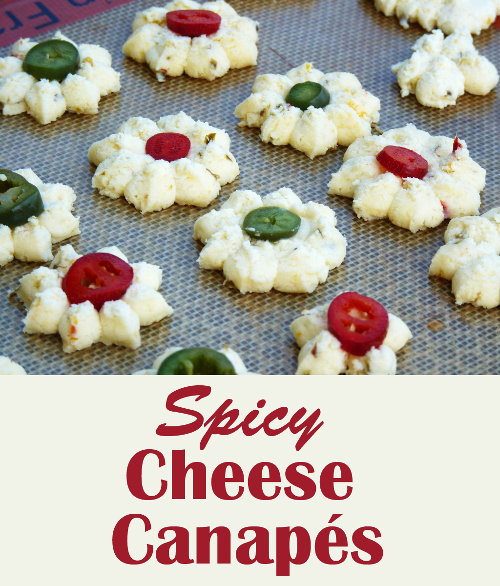 Spicy cheese canap s sweet t makes three for Cheese canape ideas