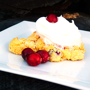 Use baking mix to whip up these cranberry scones in no time!