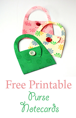 To make this fun DIY craft, all you really need is paper and a printer. Use the free printable template then add stamps or a button if you like.