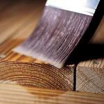 paintbrush staining wood