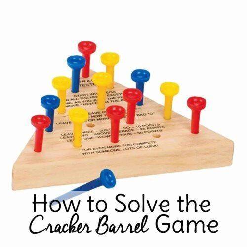 Cracker Barrel Peg Game Solution
