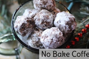 No bake coffee balls Christmas cookies