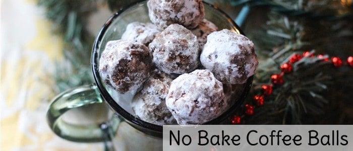 No bake coffee balls Christmas cookies