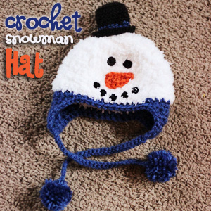 Crochet Snowman Hat - Sweet T Makes Three