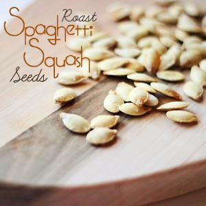 Roast Spaghetti Squash Seeds