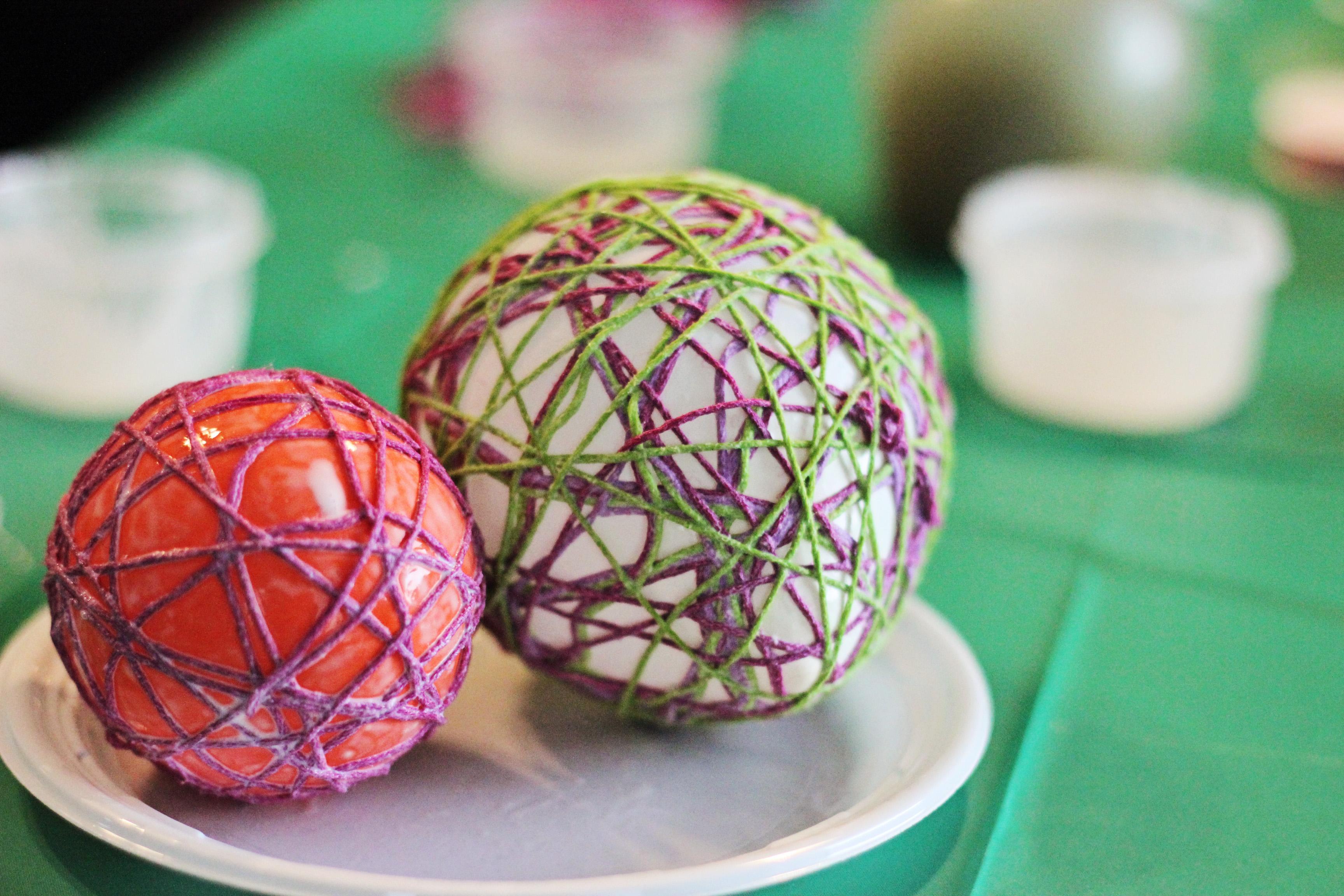 Diy String Easter Eggs
