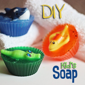 DIY Sea Creature Kid's Soaps