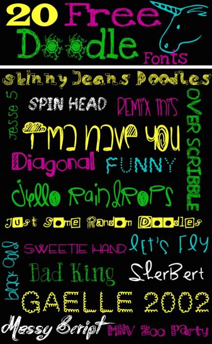20 Free Doodle Fonts