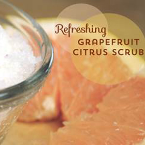 DIY Grapefruit Citrus Scrub Recipe