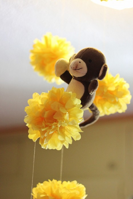 Curious George Birthday Party Tissue Paper Pom Poms