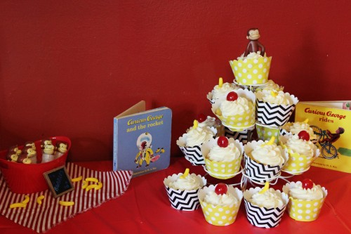 Curious George Birthday Party Book Decorations