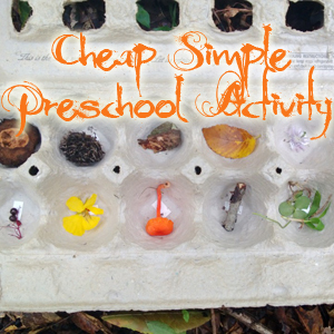 Simple Cheap Preschool Activity