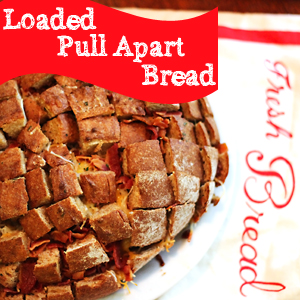 Loaded Pull Apart Bread Game Day Recipe