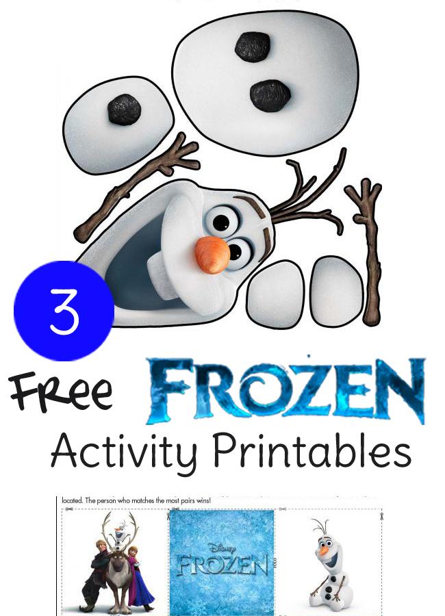 Need ideas fora Frozen birthday party? These 3 free printable activity