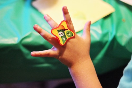 veggie tales ring birthday party favor