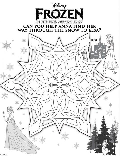 Disney S Frozen Printable Activity Sheets Sweet T Makes Three