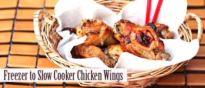 Freezer to Slow Cooker Sweet And Sour Chicken Wings