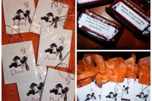 diy thanksgiving place cards with leftover halloween candy