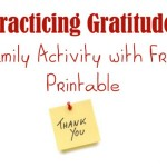 Family Gratitude Activities with Free Printable