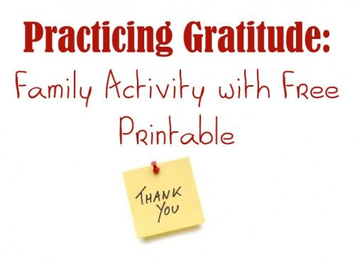 Looking for gratitude activities? This family gratitude activity is perfect for Thanksgiving or any time of year. It's more than just a Thanksgiving craft. Free printable included.