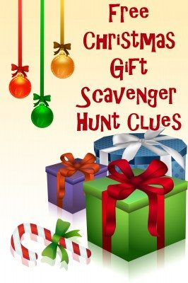 Send your loved one on a Christmas gift treasure hunt with these Christmas scavenger hunt clues that rhyme.