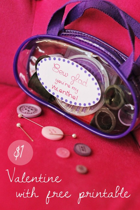 Dollar Store Valentine with Free Printable