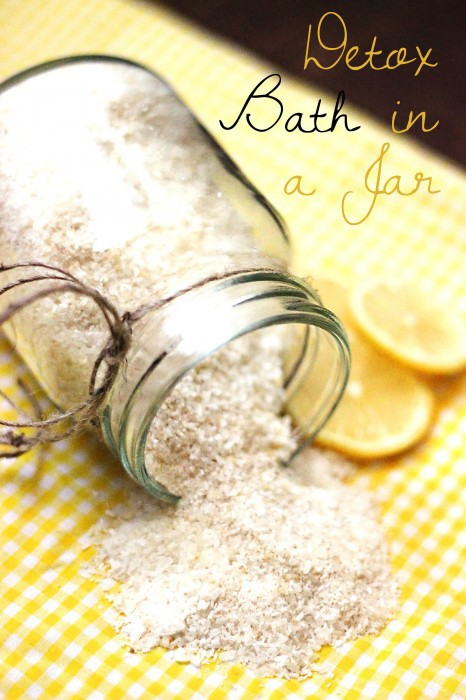 Epsom Salt Foot Bath Detox In A Jar Sweet T Makes Three