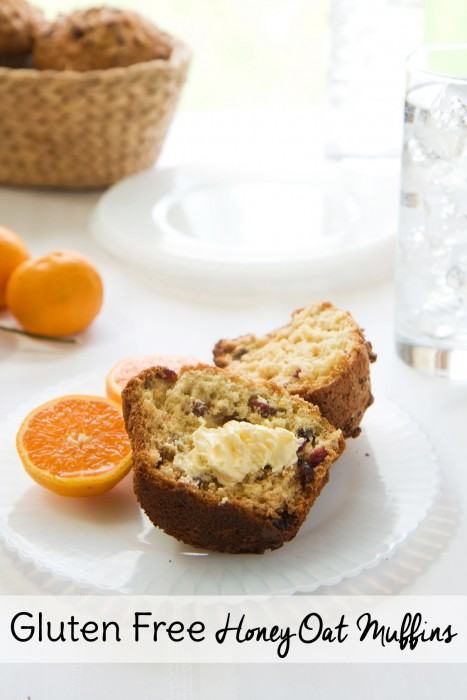 This gluten free breakfast recipe substitutes a single ingredient to make the recipe gluten free. No need to mix your own special flour for these muffins!