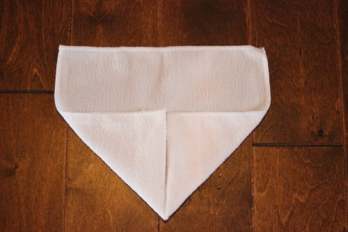 fold a towel animal pig from a washcloth