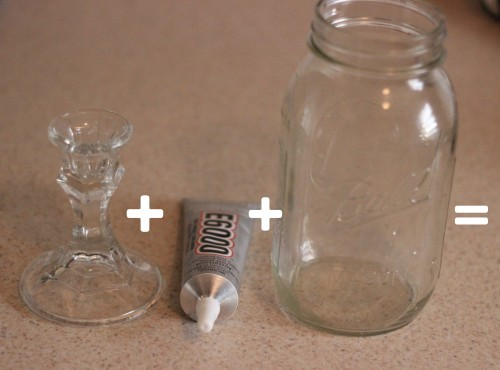 how to make an apothecary jar out of a mason jar