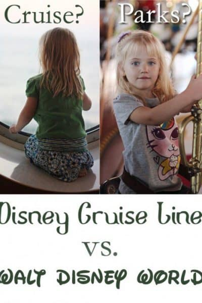 Disney Cruise or Disney World? How do you decide when you can't do both? After visiting Walt Disney World more than 20 times and having just arrived home from my third Disney cruise, I thought I'd break down Disney World vs Disney Cruise to help with your decision.