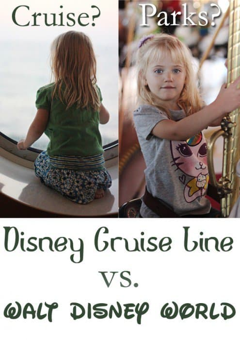 Disney Cruise or Disney World? How do you decide when you can't do both? After visiting Walt <a href=