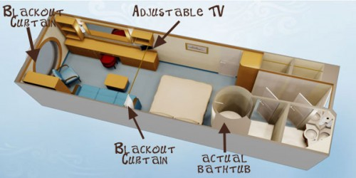 disney deluxe family stateroom layout
