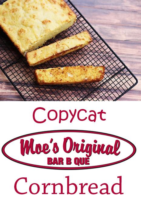 Copycat recipe for Moe's Original Bar B Que cornbread. I call it Texas Toast Cornbread.