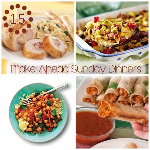 15 make ahead sunday dinners