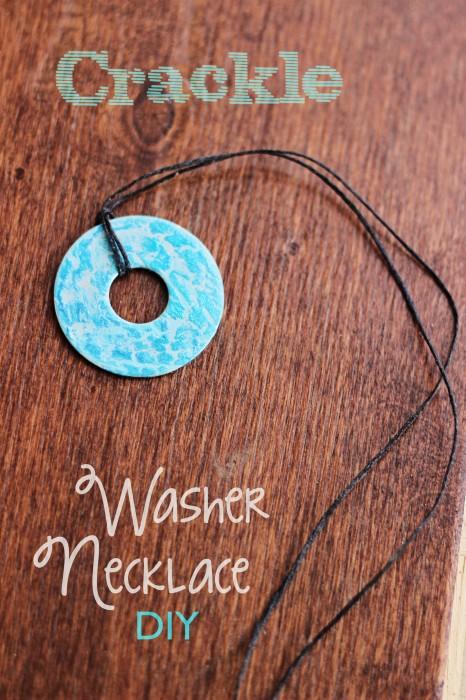 Crackle Washer Necklace DIY