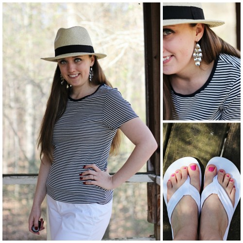 striped nautical outfit