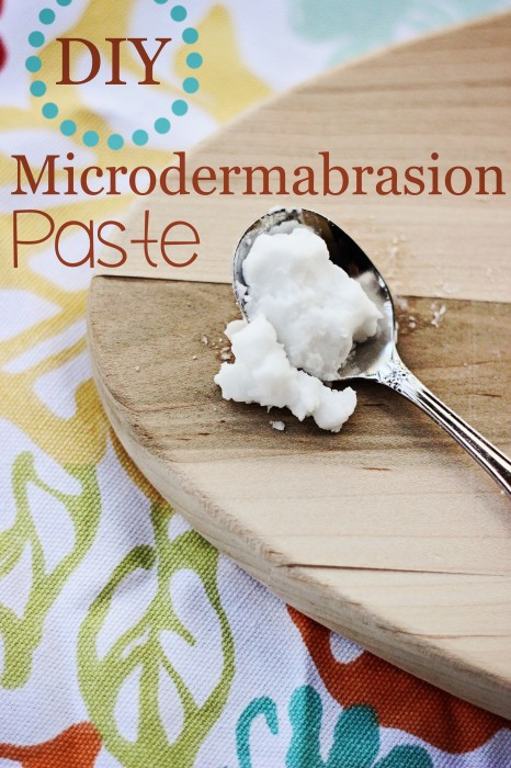 Make your own DIY Microdermabrasion paste with this simple home beauty treatment. It's such a simple DIY microdermabrasion recipe that you'll want to make some to share!