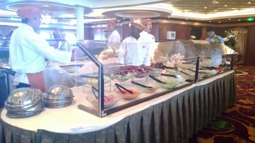 Liberty of the Seas salad bar