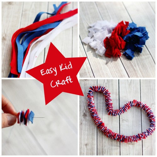 Cheap and Easy Patriotic Craft for Kids #memorialday #july4th #FouthOfJuly