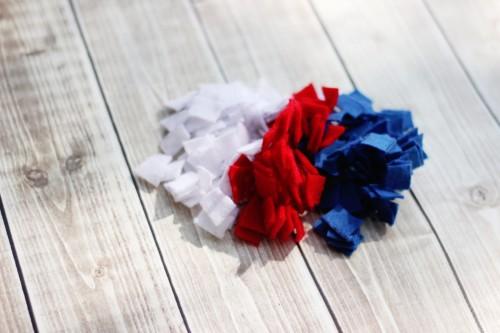 patriotic felt squares