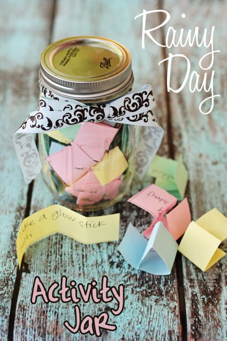 Rainy Day Activity Jar with over 50 Activites