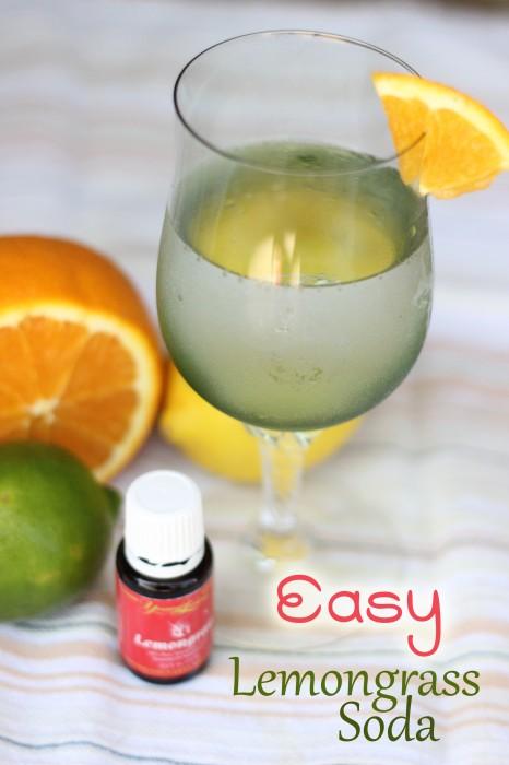 Easy Lemongrass Soda #oilyfamilies