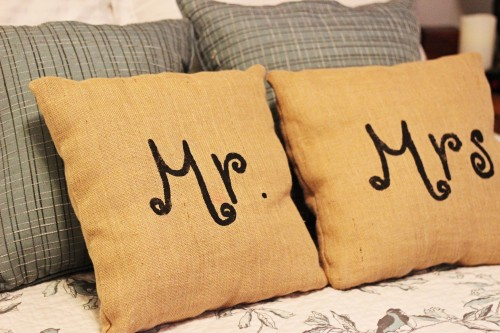 DIY Burlap Pillows